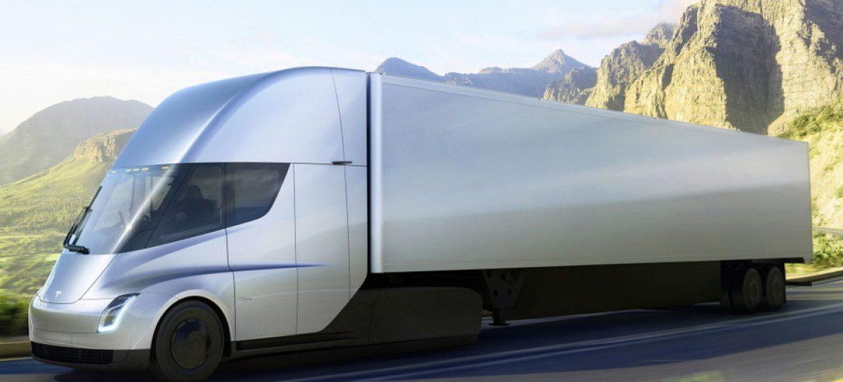 В Европе начался прием заказов на электрогрузовик Tesla Semi