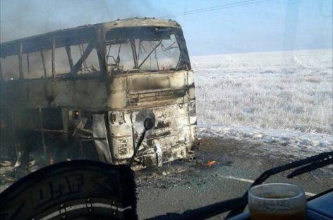 """Сгоревший """"Икарус"""" перевозил граждан Узбекистана в Самару"""