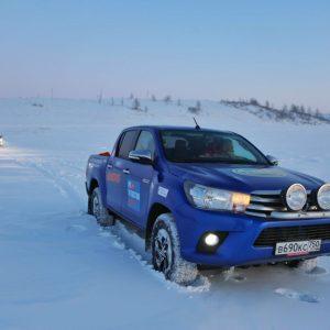 До самой северной населенной точки России на Toyota Hilux