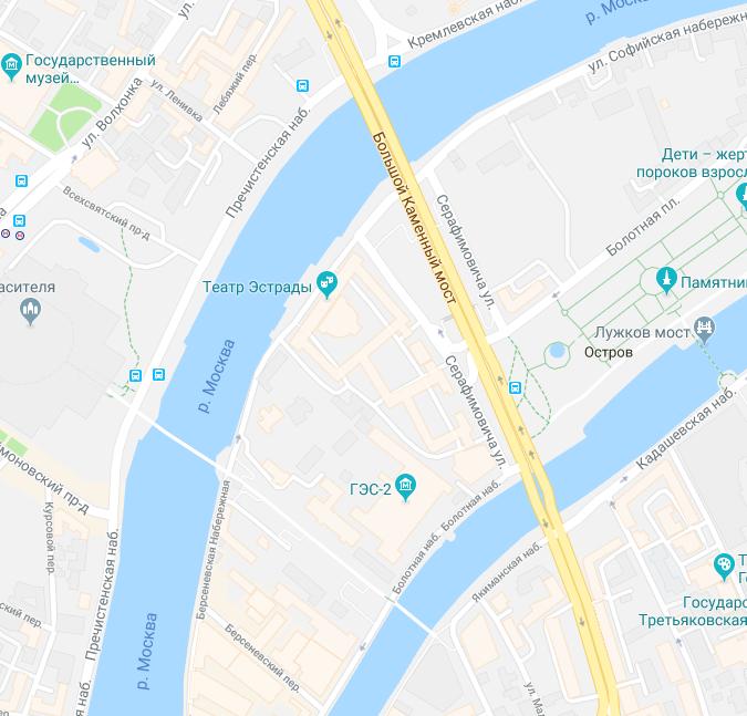 улица Серафимовича в радиусе 100 метров между мостами