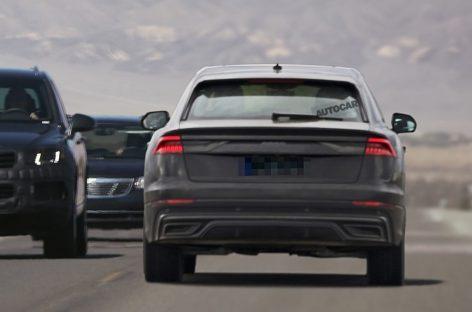 Новый Audi Q8 — почти без камуфляжа
