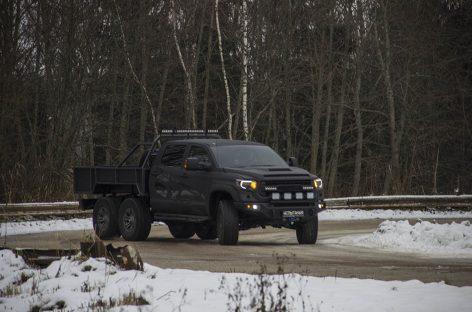 Испытание Toyota Tundra 6×6 HERCULES