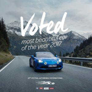 Alpine A110 признан самым красивым автомобилем 2017 года
