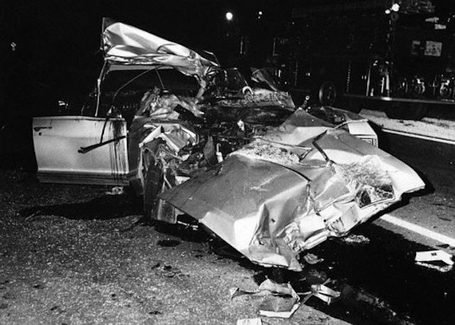 Бьюик Мэнсфилд после столкновения.