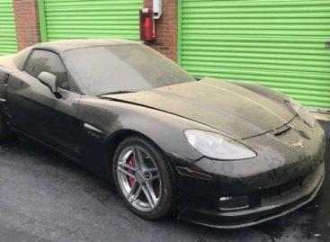 На заброшенном складе нашли Chevrolet Corvette Z06