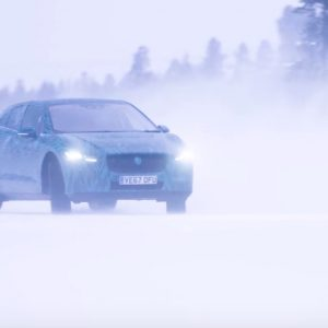 Электрокроссовер Jaguar I-Pace испытали при -40°C