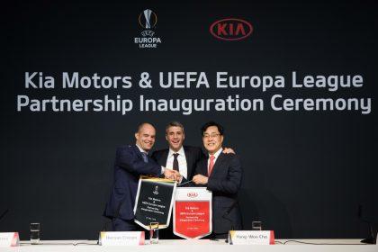 KIA Motors стала Официальным партнером Лиги Европы UEFA.
