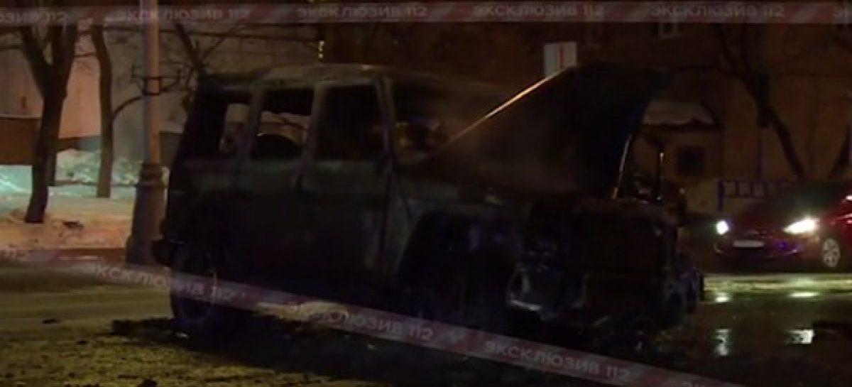 Встолице сгорел Gelandewagen охраны Тимати