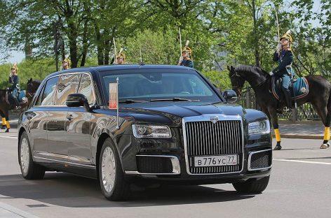 Путин приехал на инаугурацию на «Кортеже»