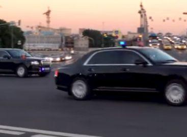 «Кортеж» российского Президента засветился на видео