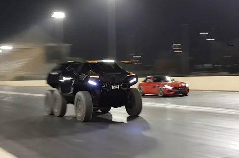Видео: Шестиколесный внедорожник и Mercedes-AMG GT сразились в дрэге