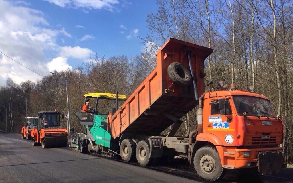 Подмосковные дорожники начали ремонт дорог в максимально короткие сроки в 2018 году