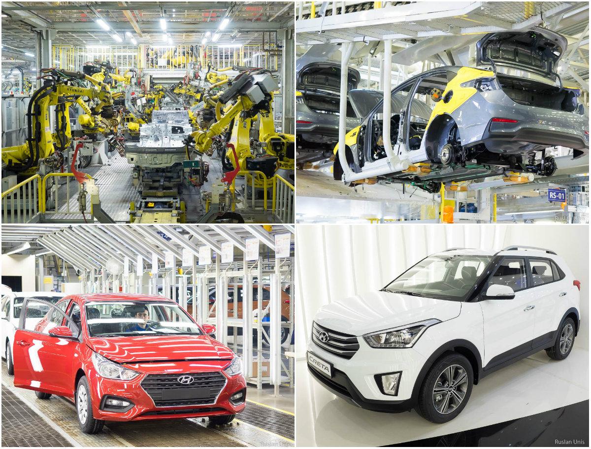 Сборка автомобилей Hyundai в России