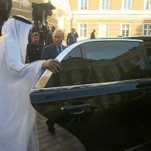 Путин похвастался лимузином Aurus перед наследным принцем ОАЭ