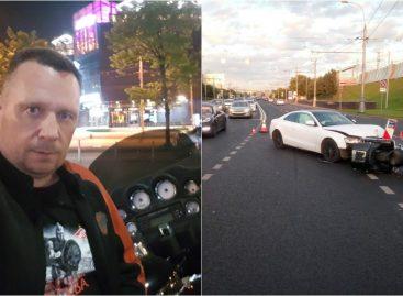 ДТП девушка за рулем Ауди А5 сбила мотоциклиста