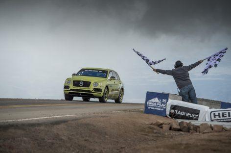 Новый рекорд Bentley Bentayga в гонке на Пайкс-Пик
