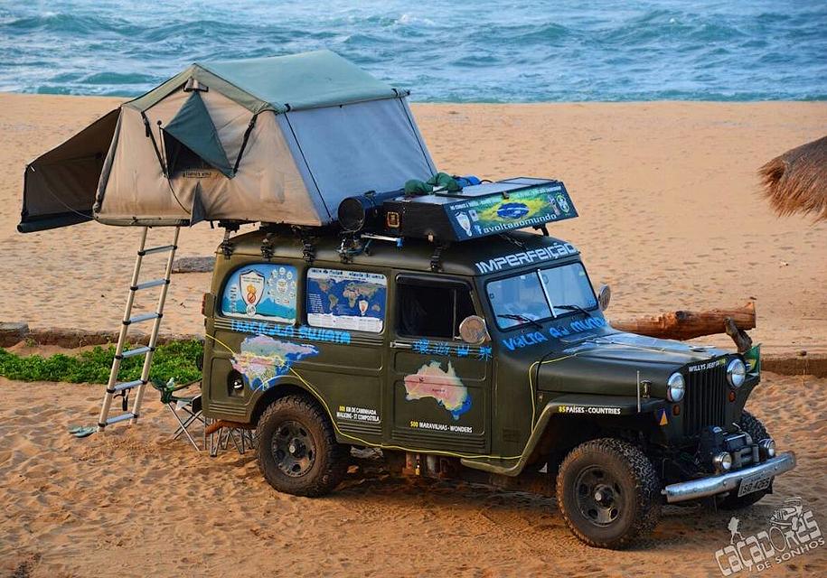 Переделанный Willys - отличный вариант для путешествий