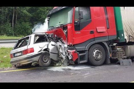 Навстречу несётся грузовик. Уходим от аварии.