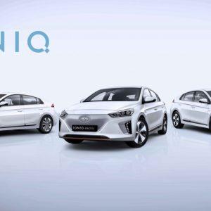 Электромобиль Hyundai IONIQ на выставке «Иннопром-2018»