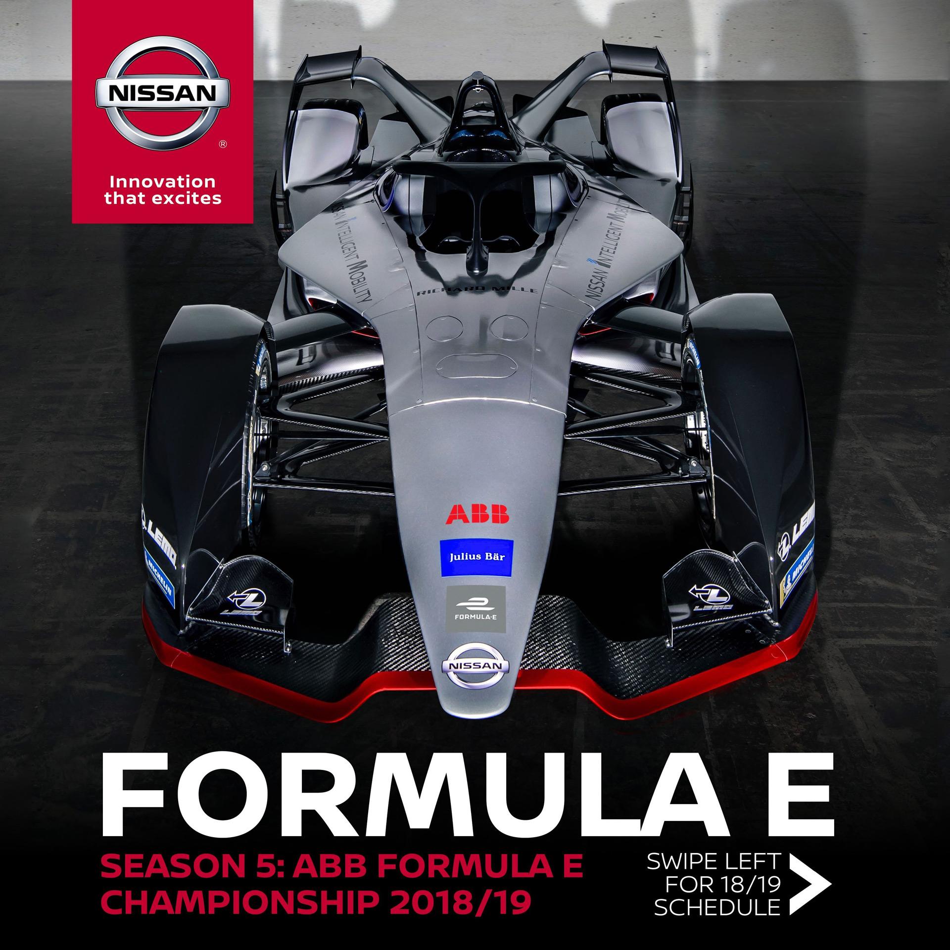 Автомобиль Nissan в пятом сезоне Формулы Е