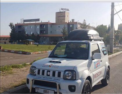 Мунир Бхатти - путешествие из Дубай в Москву и обратно на автомобиле