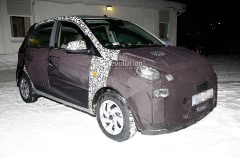 На видео засняли новый субкомпактный хэтчбек Hyundai Santro