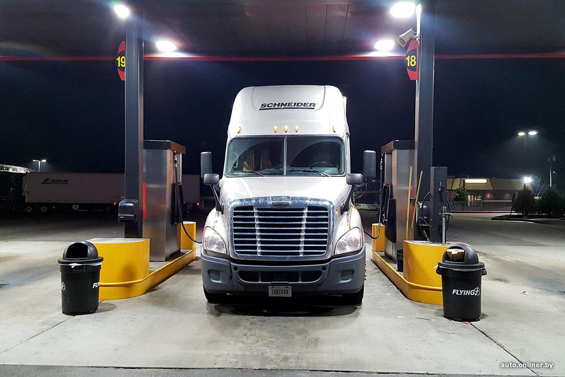 Дальнобойщик из Минска В Америке топливо не сливают