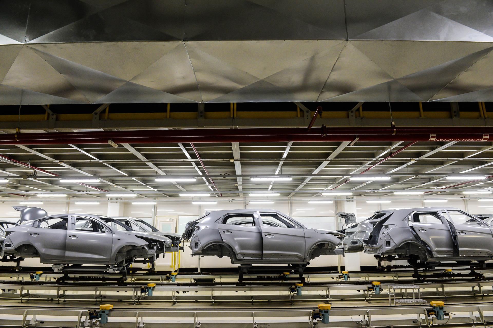 Российский завод компании Hyundai Motor увеличивает объем производства третий год подряд