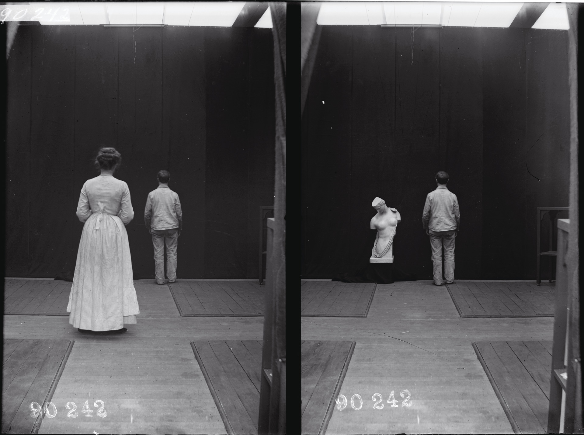 Джозеф Ястроу, эксперименты в области визуального восприятия, c. 1905, Стереографы из стеклянных негативов, Коллекция Keystone-Mast