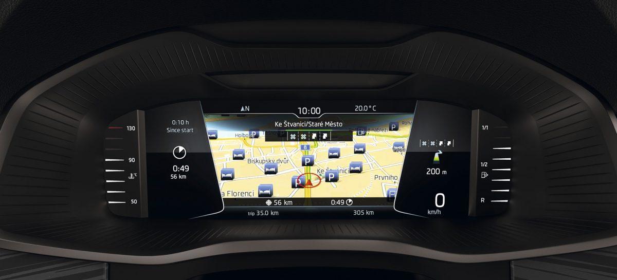 Автомобили ŠKODA с цифровой приборной панелью в России