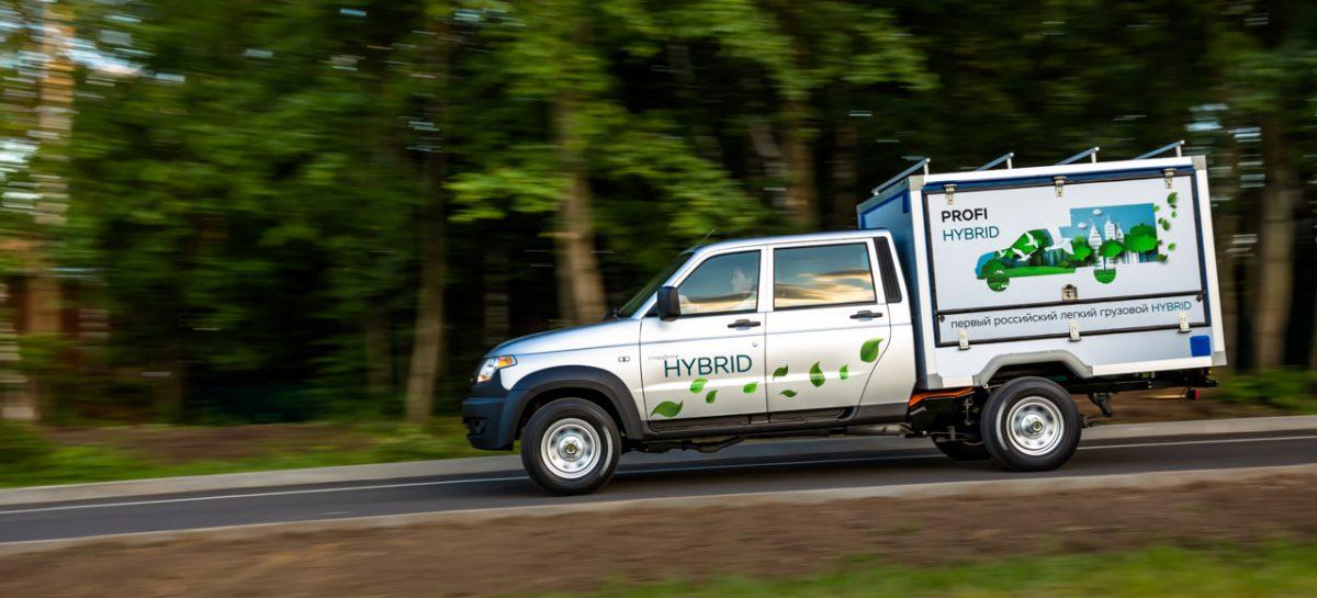 Прототип российского грузовика, с гибридной силовой установкой, представил УАЗ
