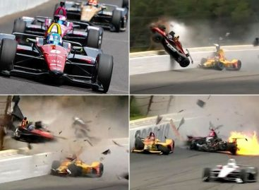 Жуткая авария на гонках в Америке (Видео!)
