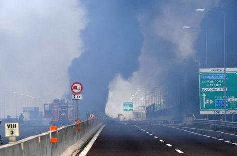 Взрыв бензовоза в Италии (Видео!)