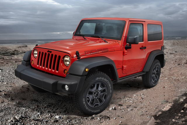 Jeep wrangler moab Red