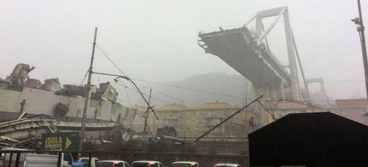 Трагедия в Генуе: очевидцы утверждают, что в мост попала молния