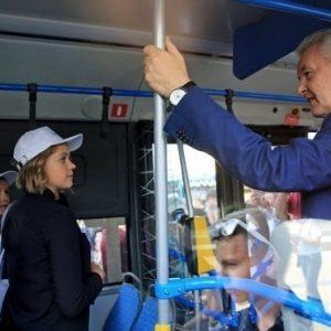 Московский электробус с Собяниным сломался в первом рейсе
