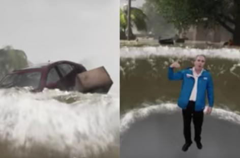Weather Channel демонстрирует 3D-графику потенциальных разрушений от урагана Флоренс