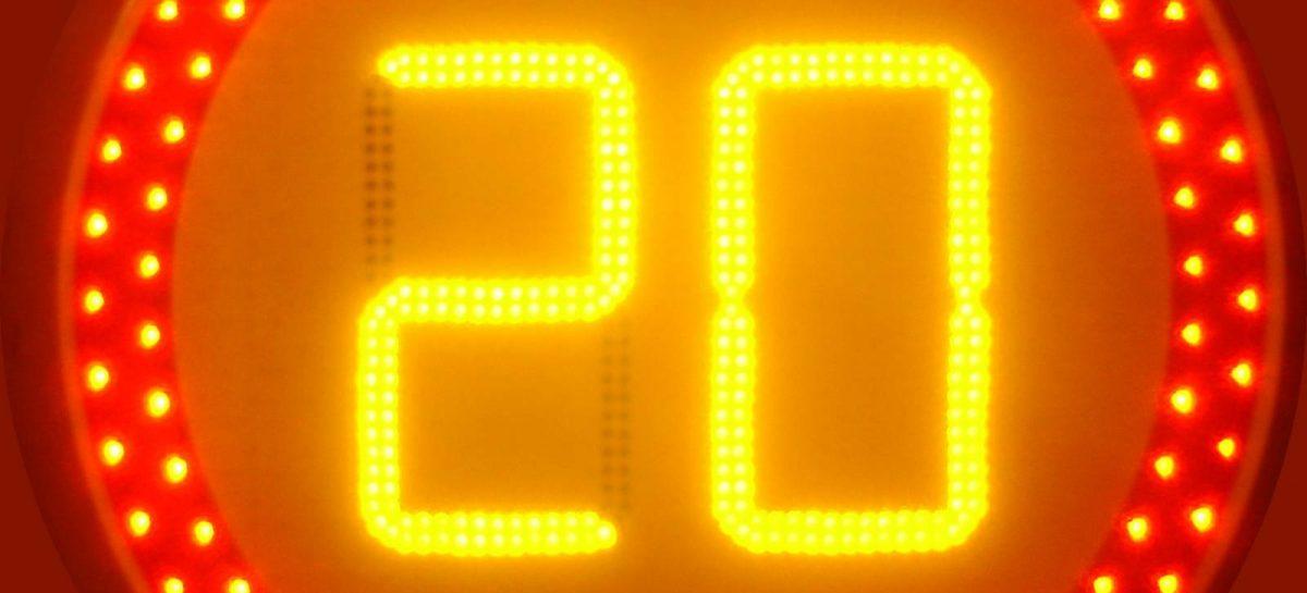 Встречайте – новые, активные знаки ограничения скорости
