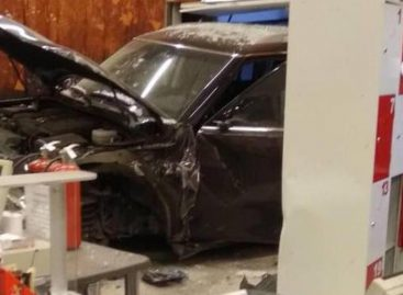 Полиция завела дело после наезда иномарки на супермаркет