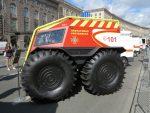 Выставка интересных автомобилей ко Дню спасателя в Украине