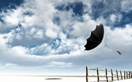 ветер зонтик