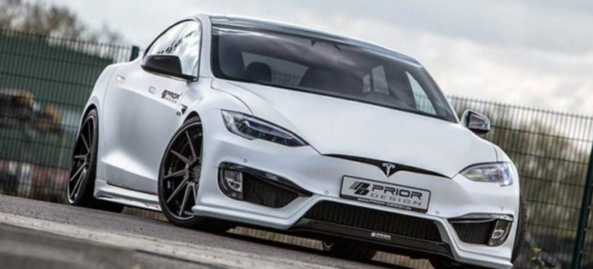 Ганста-стайл: Tesla Model S обзавелась аэродинамическим обвесом