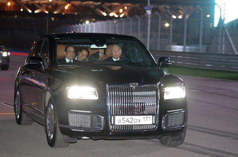 Владимир Путин прокатил лидера Египта на Aurus Senat