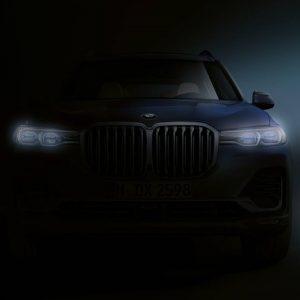 Компания BMW представила тизерное изображение нового флагмана X7