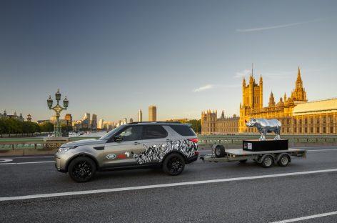 Скульптура носорога от Land Rover позволила фонду Tusk заработать свыше 600 000 фунтов стерлингов на аукционе