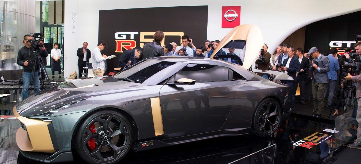 В креативном пространстве Nissan Crossing в токийском районе Гиндза можно увидеть Nissan GT-R50 от Italdesign