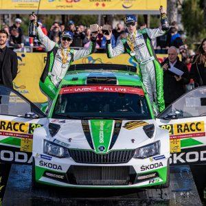 Юниор Skoda Рованпера занял первое место на 12 этапе чемпионата мира по ралли FIA