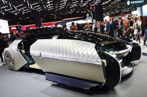 Renault воссоздала Машину Времени на автосалоне в Париже. Прошлое и будущее бренда