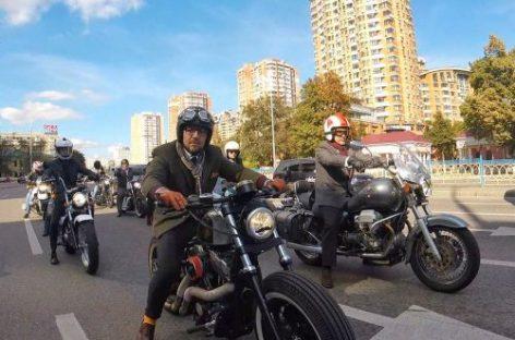 В Киеве прошел заезд винтажных байкеров
