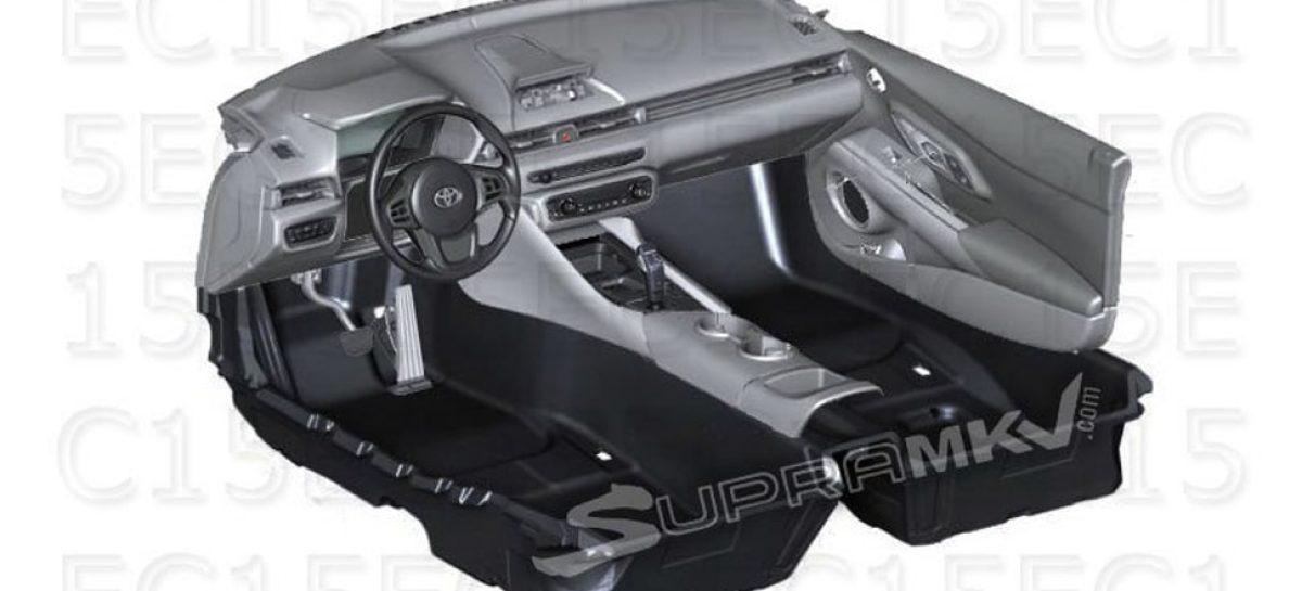 В сети рассекретили салон новой Toyota Supra